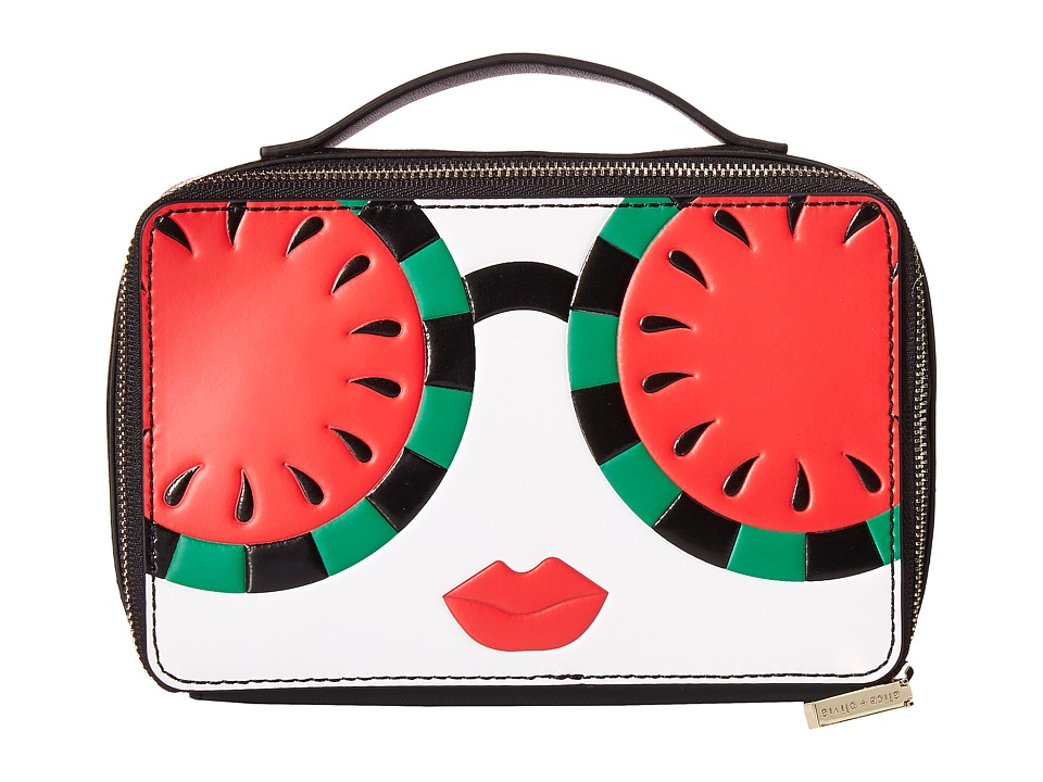 Alice + Olivia - Ally Stace Face Watermelon Zip Cosmetic Case (Multi) Cosmetic Case