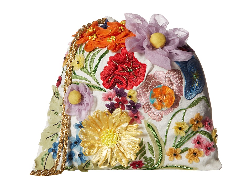 Alice + Olivia - Odessa Embroidered 3D Floral Pouch (Multi) Travel Pouch