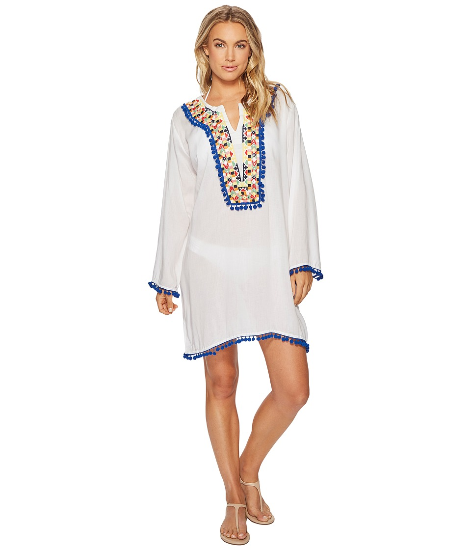 Image of Bindya - Colored Mirror Tunic (Multi) Women's Blouse