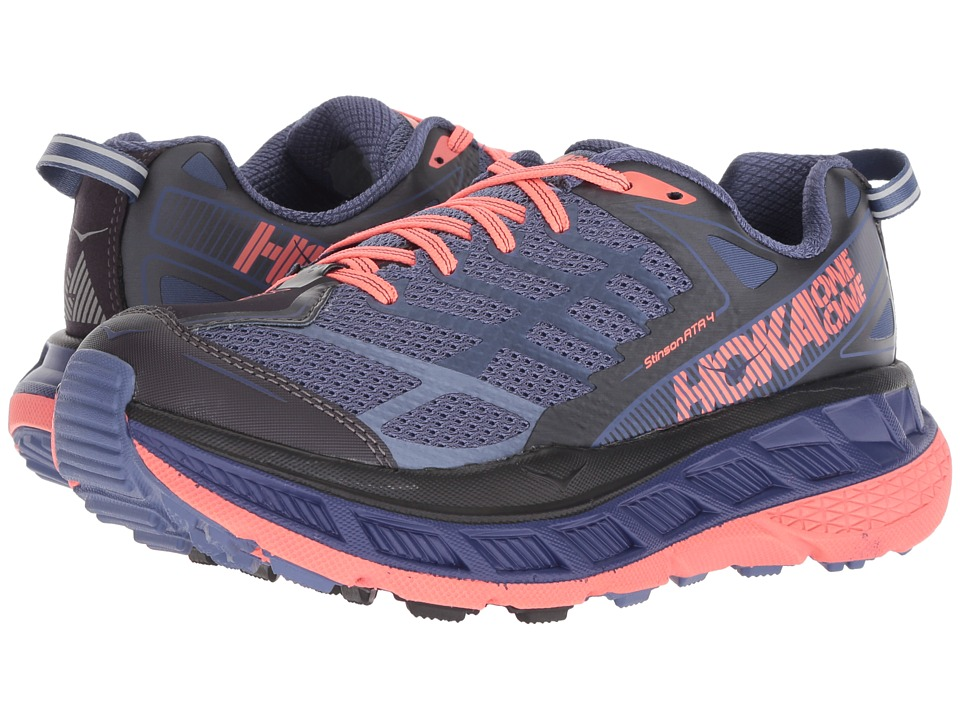 Hoka One One Stinson ATR 4 (Marlin/Neon Coral) Women's Running Shoes
