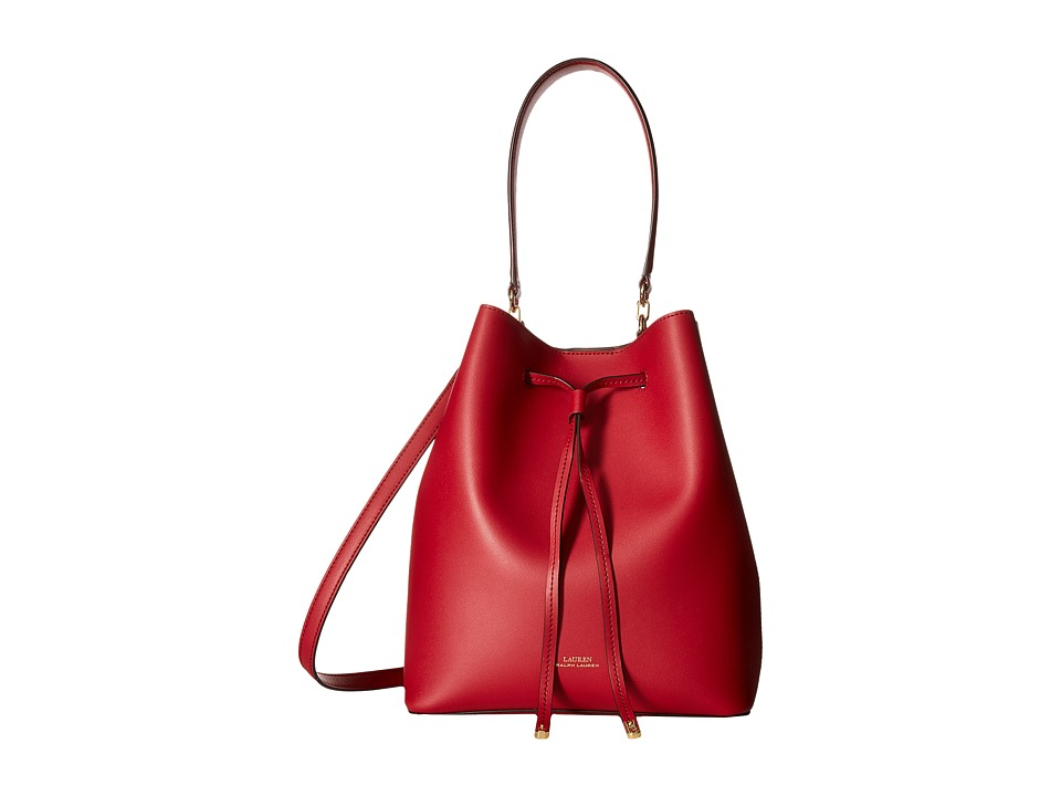 Ralph Lauren Dryden Debby Drawstring Medium (Red/Truffle)...