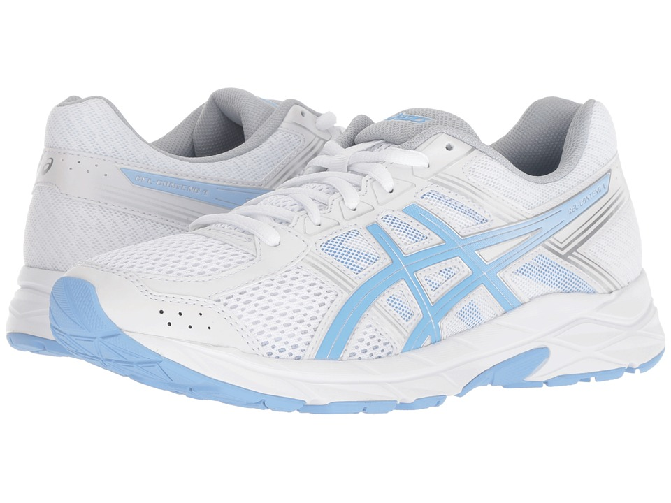 ASICS GEL-Contend 4 (White/Blue Bell) Women's Running Shoes