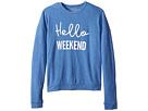 The Original Retro Brand Kids Girls Super Soft Haaci Pullover Hello Weekend (Big Kids)