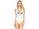 Polo Ralph Lauren Icon Classics Side Plunge One-Piece