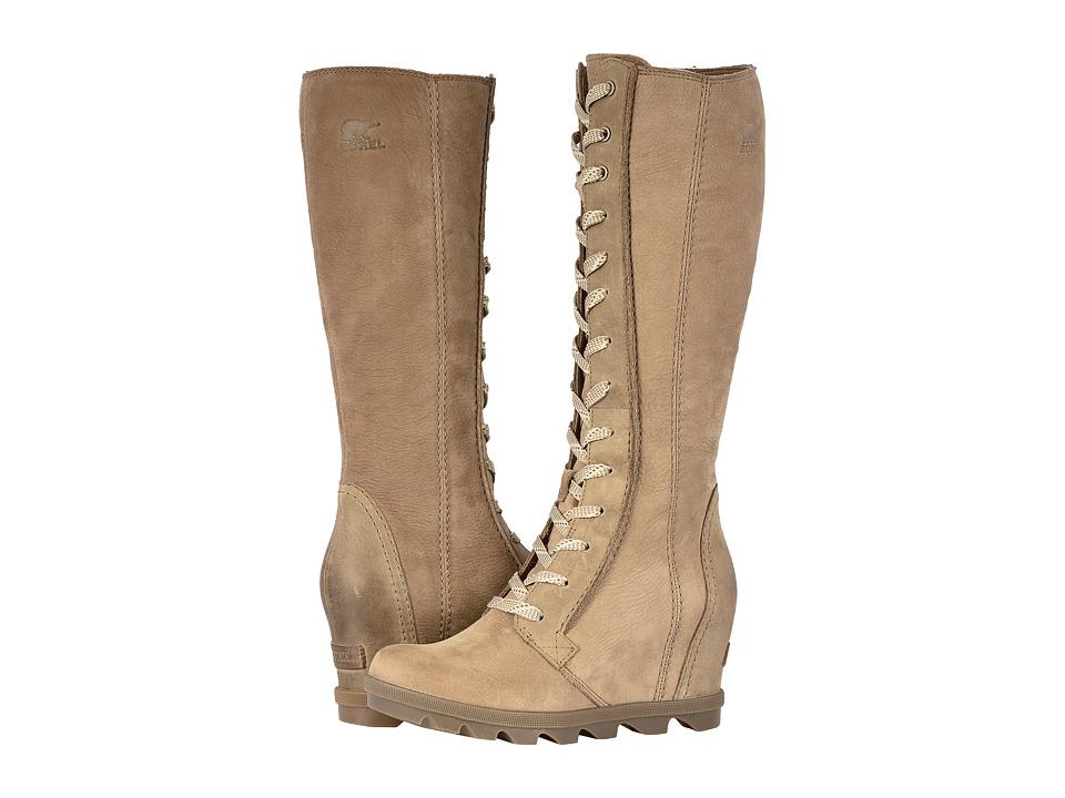 SOREL Joan of Arctic Wedge II Tall (Ash Brown Full Grain Leather/Nubuck Combo) Women's Waterproof Boots