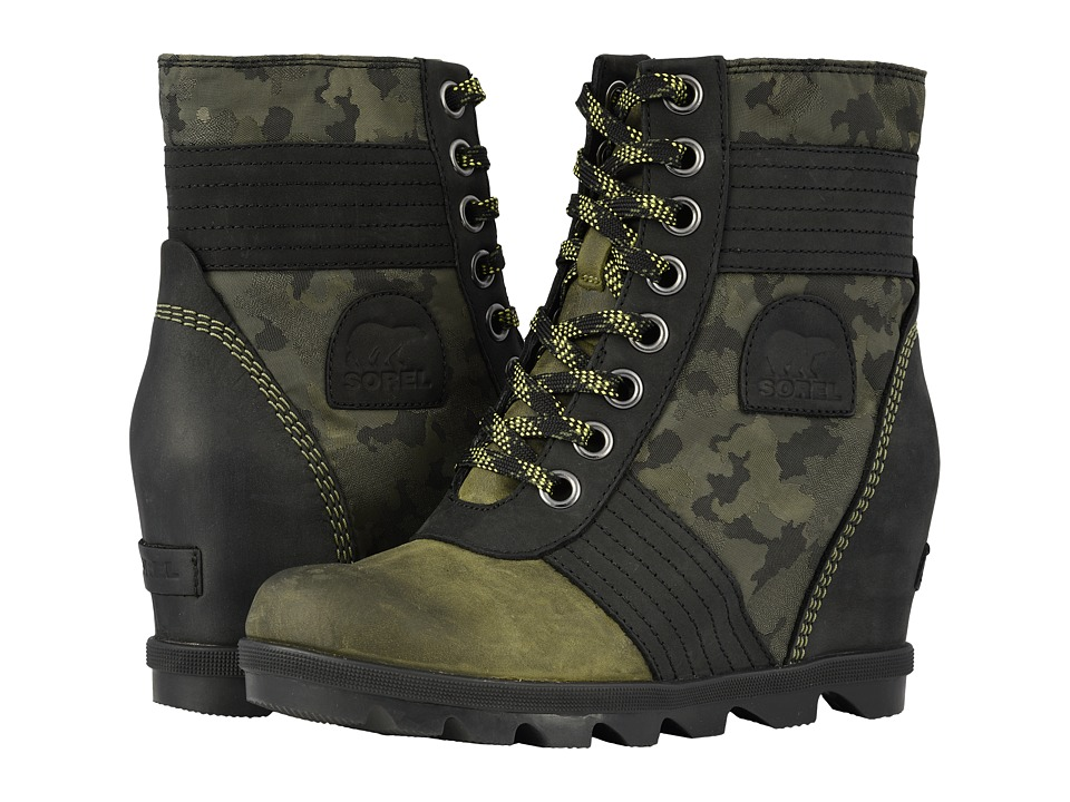 SOREL Lexietm Wedge (Hiker Green) Women's Lace-up Boots