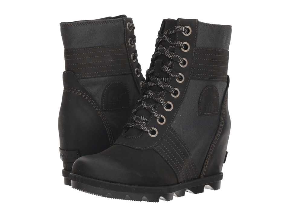 SOREL Lexietm Wedge (Black) Women's Lace-up Boots