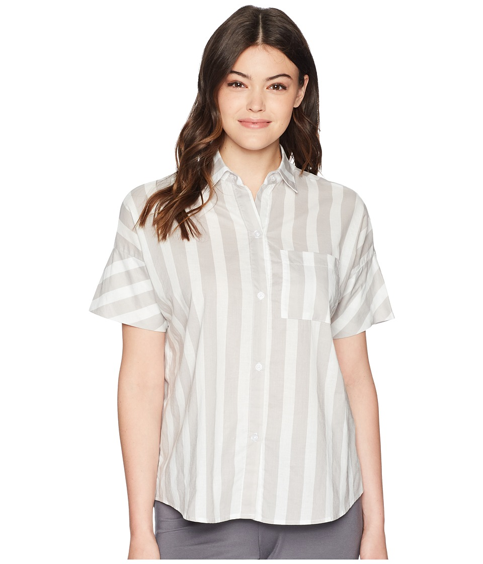 Maison Du Soir - Gigi Blouse (Grey Stripe) Womens Blouse