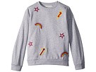 Stella McCartney Kids Betty Sweatshirt w/ Rainbow and Arrow Patches (Toddler/Little Kids/Big Kids)