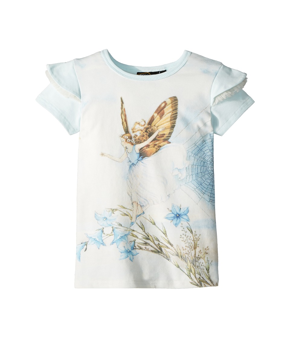 Rock Your Baby - Fairy Short Sleeve Tee (Toddler/Little Kids/Big Kids) (Blue) Girls T Shirt