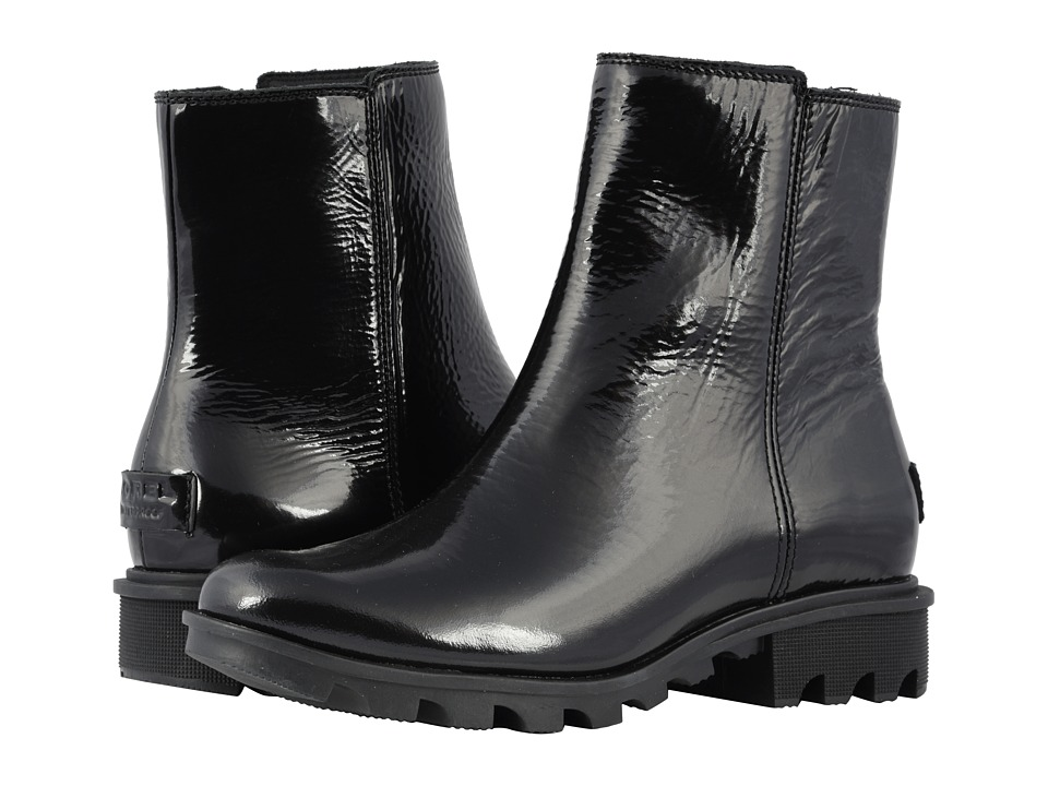 SOREL Phoenixtm Zip (Black Patent Leather)