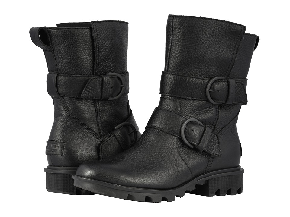 SOREL Phoenixtm Moto (Black) Women's Pull-on Boots