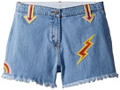 Stella McCartney Kids Marlin Cut Off Denim Shorts w/ Patches (Toddler/Little Kids/Big Kids)