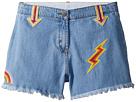 Stella McCartney Kids Stella McCartney Kids Marlin Cut Off Denim Shorts w/ Patches (Toddler/Little Kids/Big Kids)