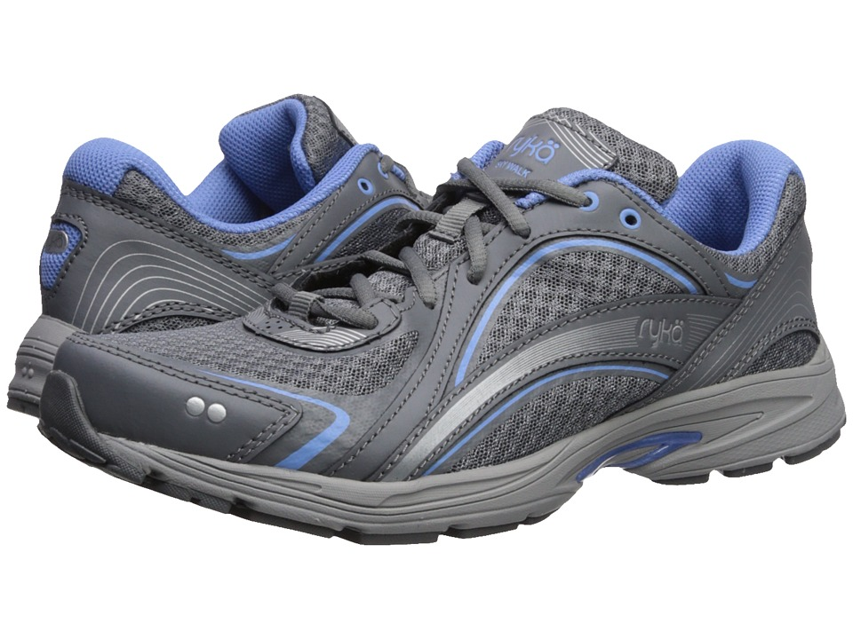 Ryka Sky Walk (Slate Grey/Chrome Silver/Robin Blue) Walking Shoes