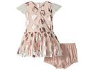 Stella McCartney Kids Stella McCartney Kids Bellie Seashell Print Tulle Dress (Infant)