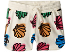 Stella McCartney Kids Beryl Seashell Print Knit Shorts (Toddler/Little Kids/Big Kids)