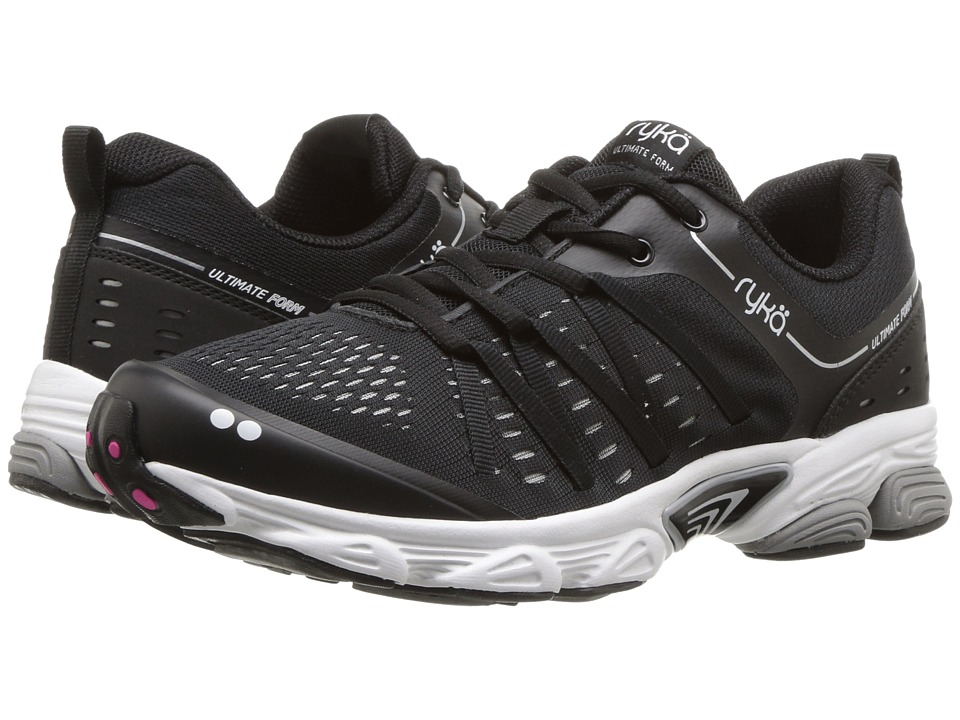Ryka Ultimate Form (Black/Chrome Silver/Athena Pink) Women's Shoes
