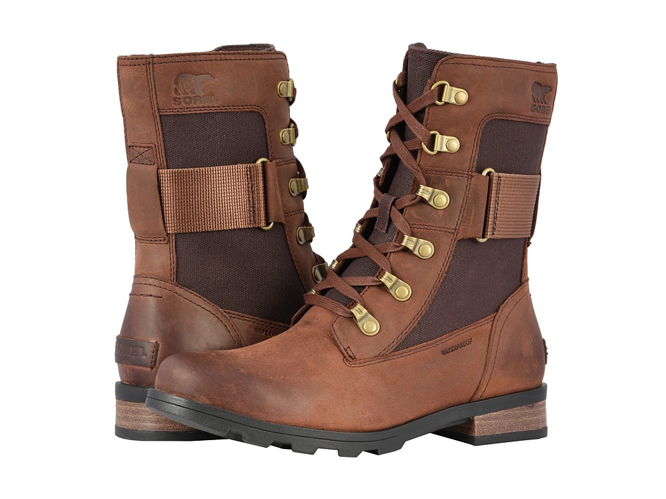SOREL Emelietm Conquest (Burro) Women's Lace-up Boots