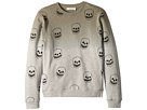 Stella McCartney Kids Biz Ombre Sweatshirt w/ All Over Skulls (Toddler/Little Kids/Big Kids)