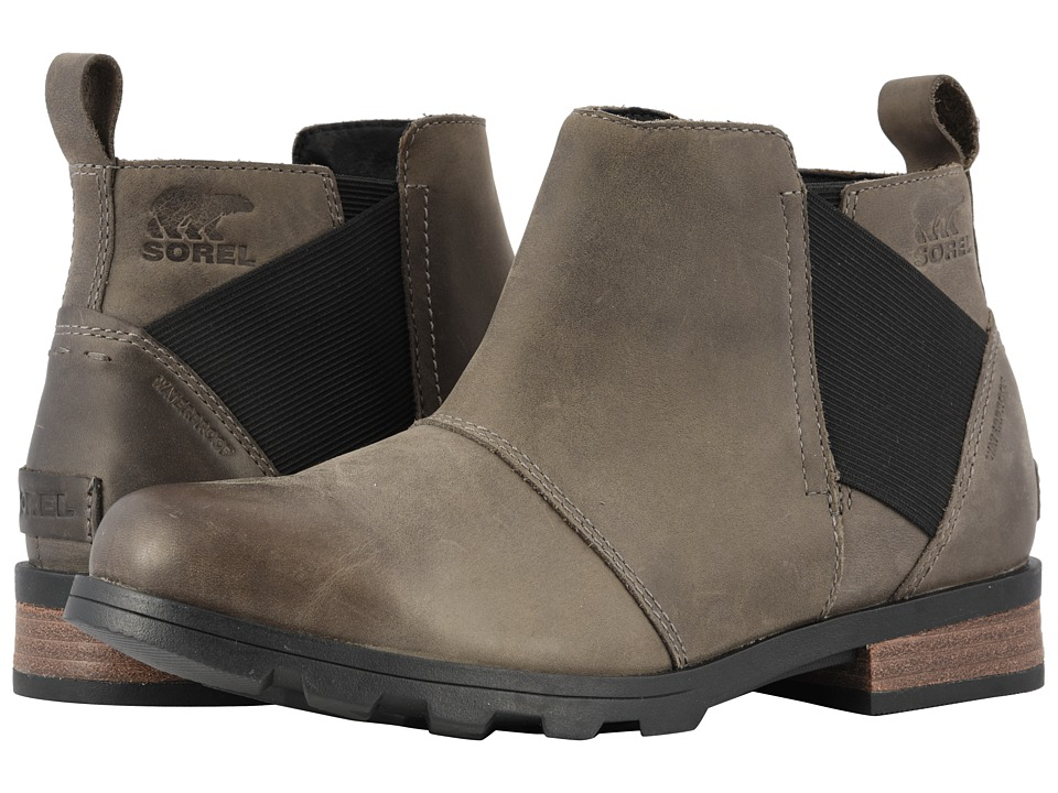 SOREL Emelie Chelsea (Quarry/Black) Women's Waterproof Boots