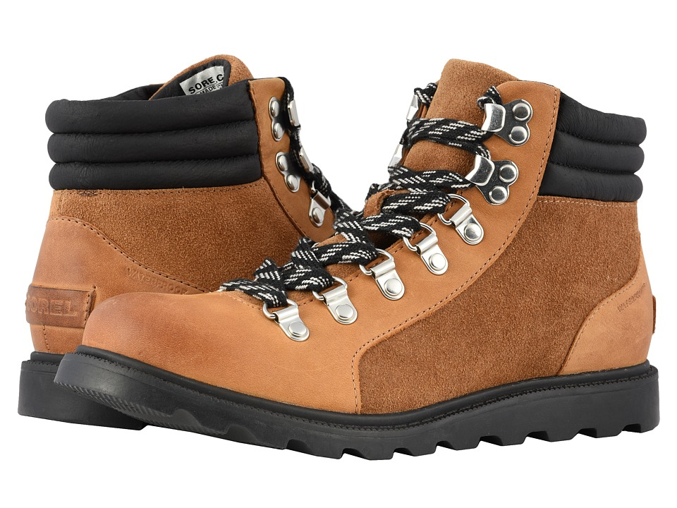 SOREL Ainsleytm Conquest (Camel Brown/Black Full Grain Leather) Women's Lace-up Boots