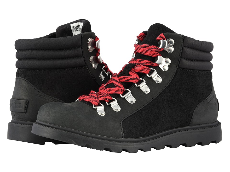 SOREL Ainsleytm Conquest (Black Full Grain Leather) Women's Lace-up Boots