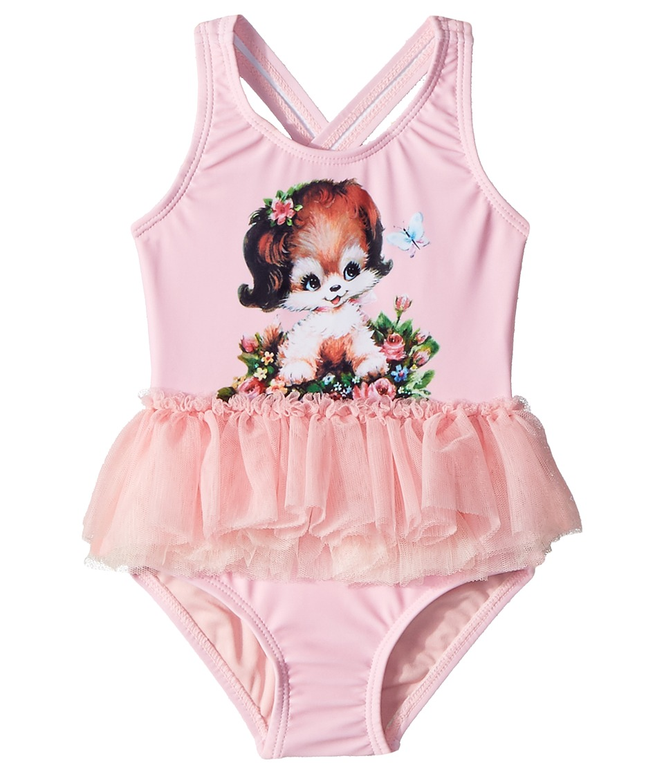 Rock Your Baby - Puppy Love Tulle One-Piece (Infant) (Pin...
