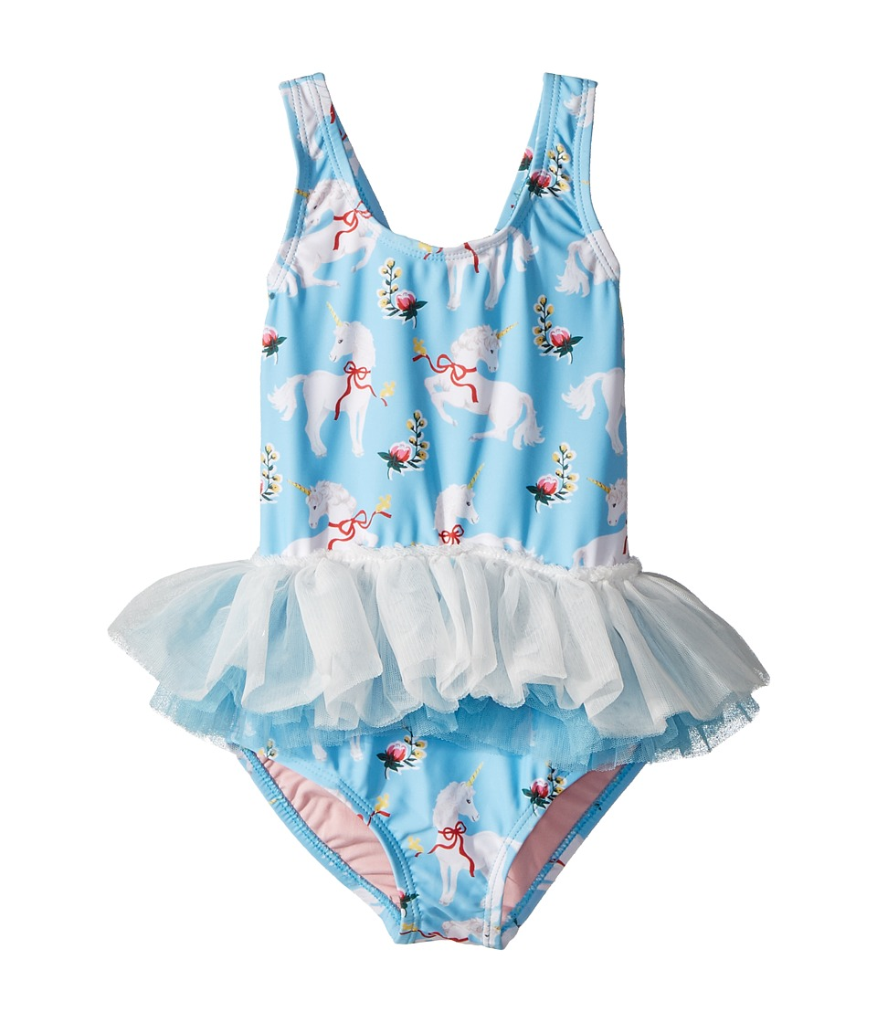 Rock Your Baby - White Unicorns Tulle One-Piece (Toddler/...