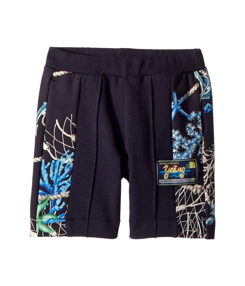 Versace Kids - Shorts w/ Sea Shore Design on Sides (Toddler/Little Kids) (Navy) Boys Shorts