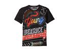 Versace Kids Short Sleeve Neon Lights Logo Graphic T-Shirt (Toddler/Little Kids)