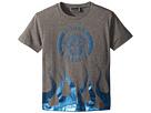 Versace Kids Short Sleeve Medusa Logo T-Shirt w/ Flames (Toddler/Little Kids)