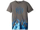 Versace Kids Short Sleeve Medusa Logo T-Shirt w/ Flames (Big Kids)