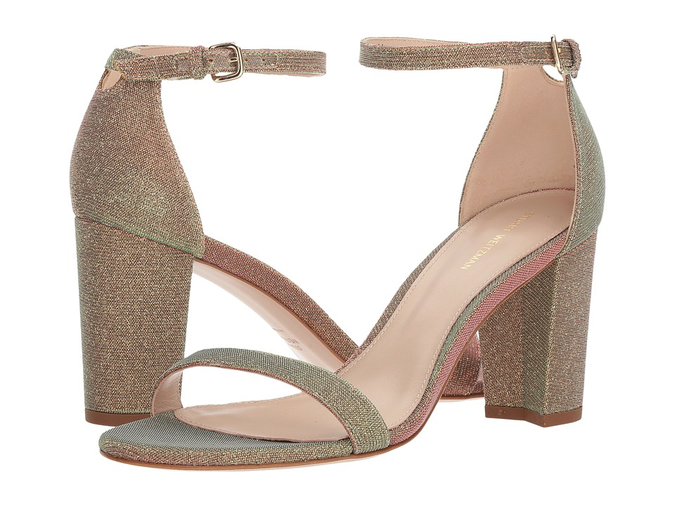 Stuart Weitzman Nearlynude (Gold Multi Nighttime) Women's Shoes