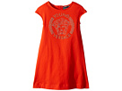Versace Kids Cap Sleeve Dress with Medusa Logo (Toddler/Little Kids)
