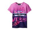 Versace Kids Short Sleeve Logo Car Graphic T-Shirt (Toddler/Little Kids)