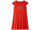 Versace Kids Cap Sleeve Dress with Medusa Logo (Big Kids)