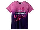 Versace Kids Short Sleeve Logo Car Graphic T-Shirt (Big Kids)