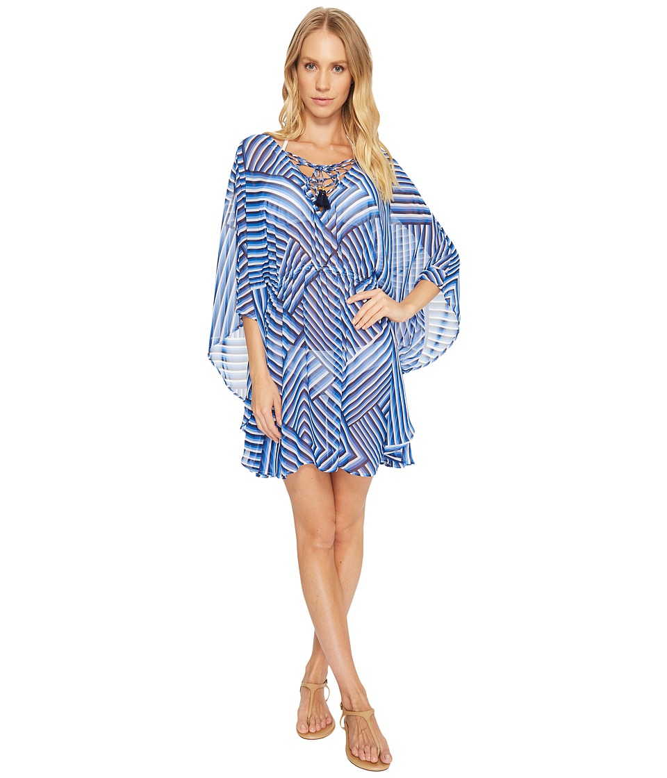 Tommy Bahama Fuller Fronds Lace-Up Tunic Cover-Up TSW20676C-100