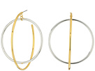 Rebecca Minkoff Mixed Metal Satelite Hoops Earrings