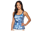 Tommy Bahama Active Patchwork Tankini w/ Mesh