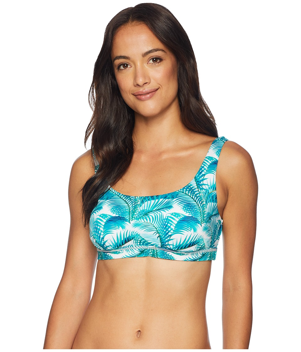 Tommy Bahama Active Among Frond Underwire Sport Bra (Ming Jade) Women