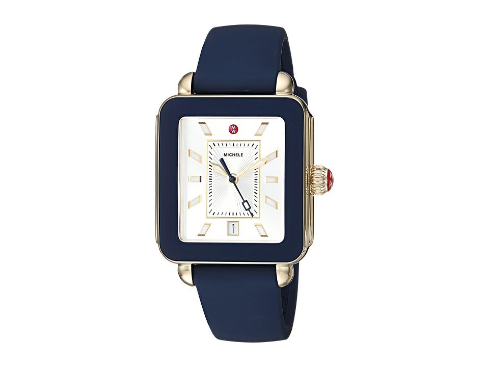 Michele Watches Deco Sport Navy Silicone Watch (Navy) Wat...