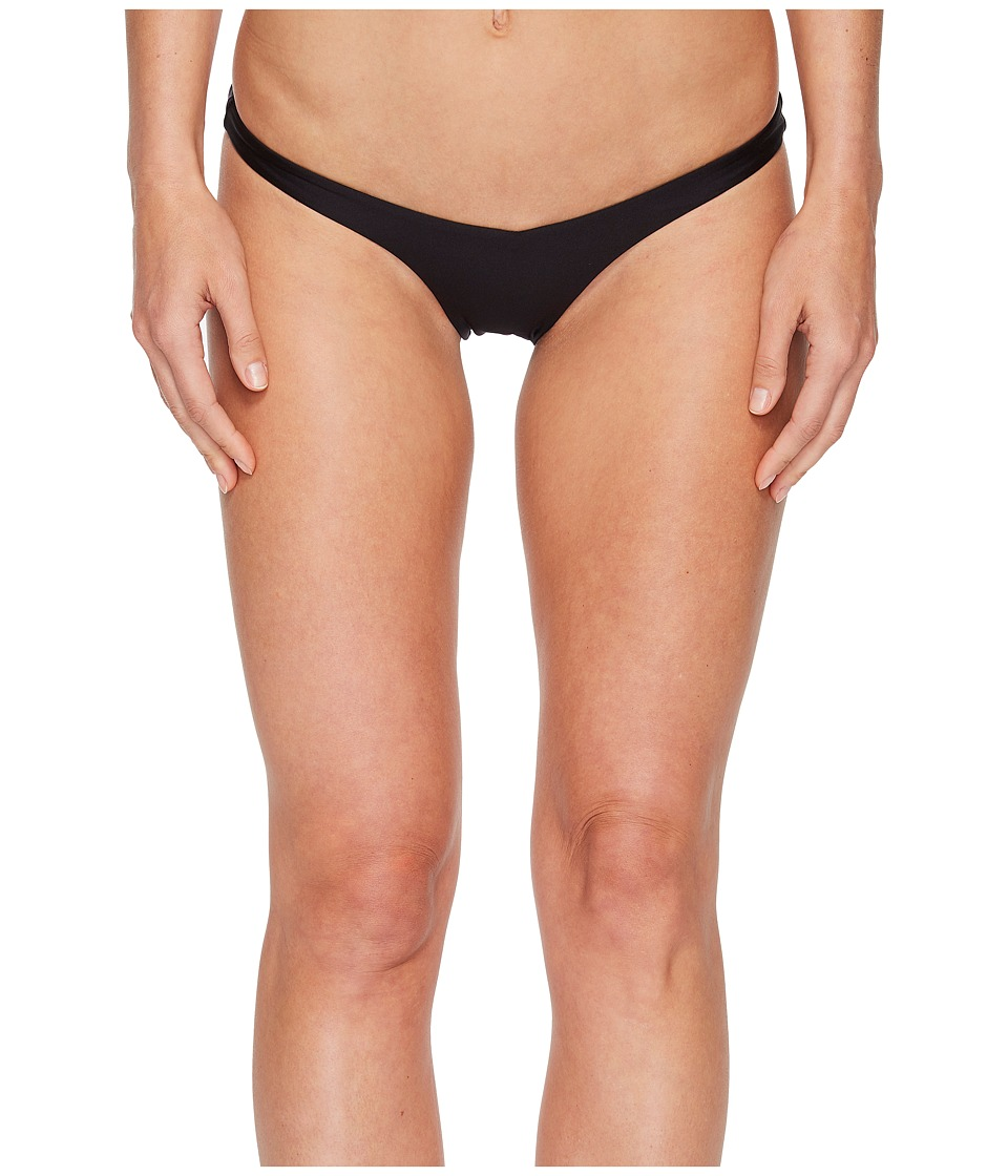 Sports Illustrated - Rebel Rebel Skimpy V Bikini Bottom (Black) Womens Swimwear