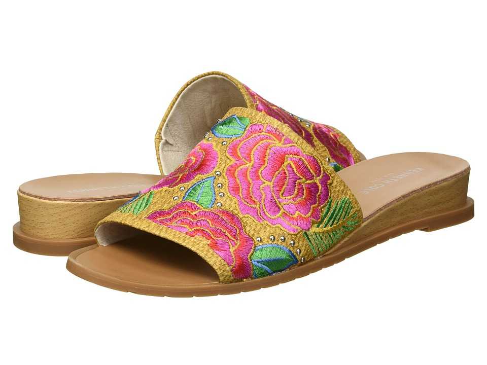 Kenneth Cole New York - Joanne Embroidery (Natural Raffia) Womens Shoes