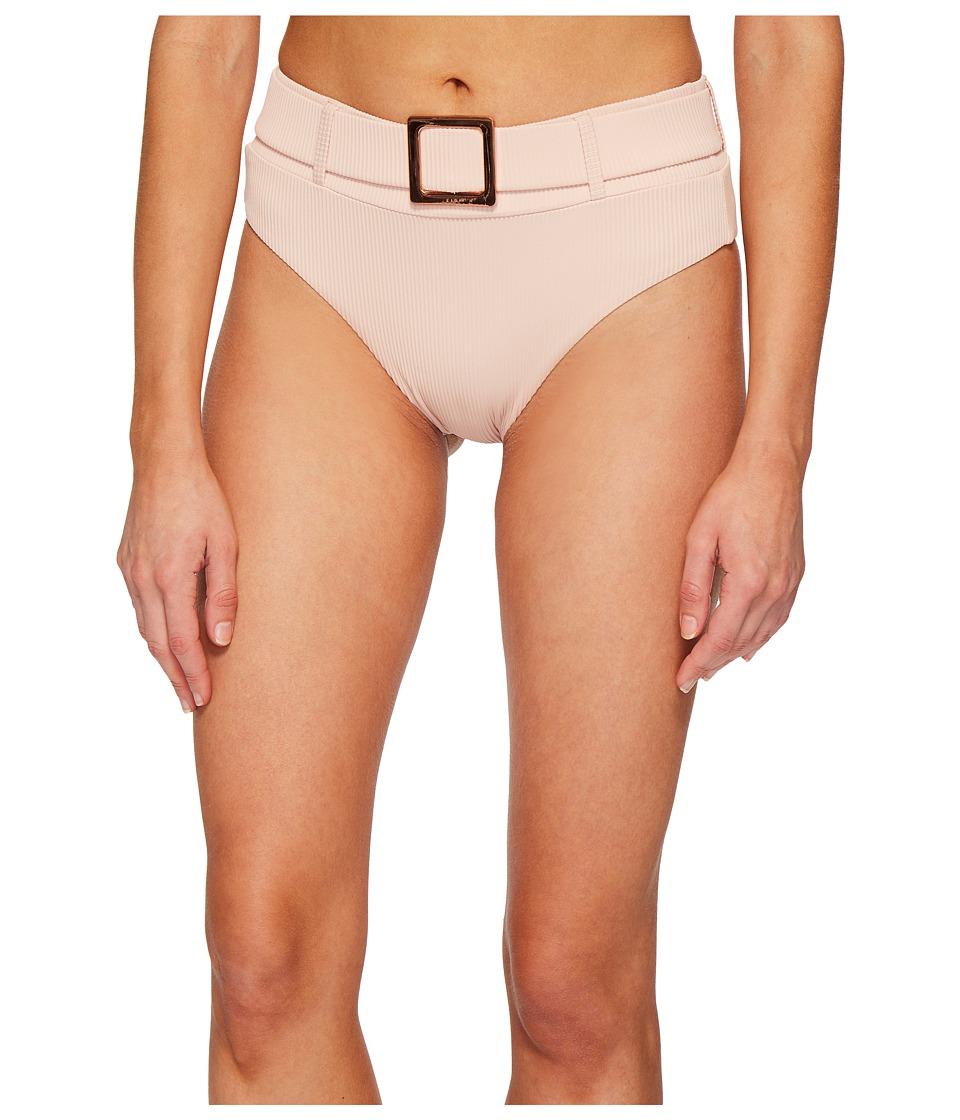 Sports Illustrated - Secret Garden Belted High-Waist Bikini Bottom (Blush) Womens Swimwear