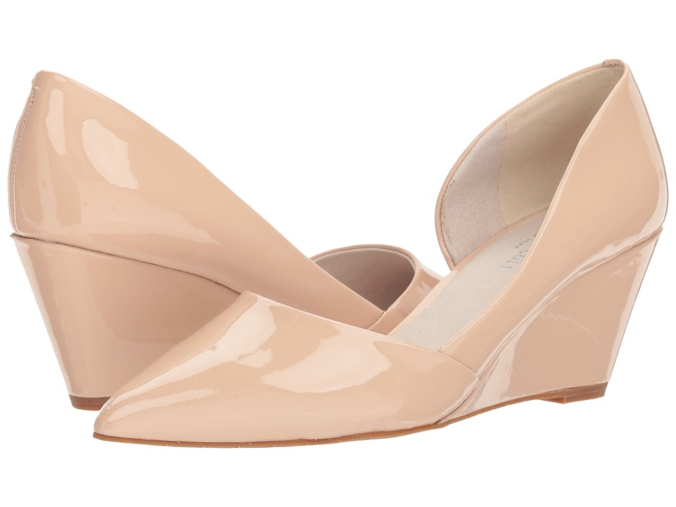 Kenneth Cole New York - Ellis (Nude Patent Leather) Womens Wedge Shoes