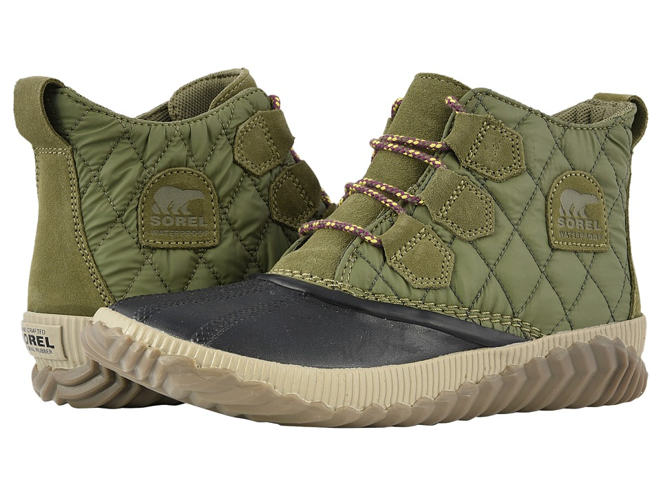 SOREL Out 'N Abouttm Plus (Hiker Green Suede Combination) Women's Cold Weather Boots