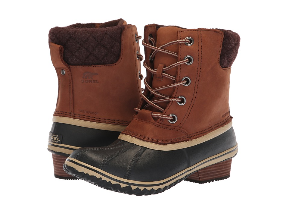 SOREL Slimpack II Lace (Burro/Cattail Nubuck Leather) Women's Waterproof Boots