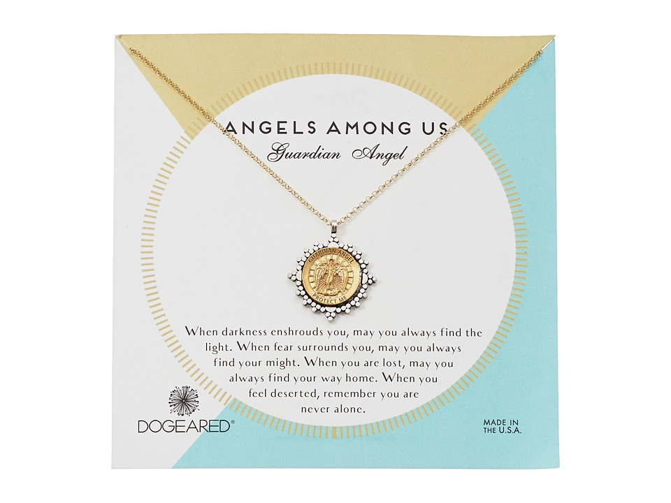 Dogeared - Angels Among Us Necklace (Gold Dipped) Necklace